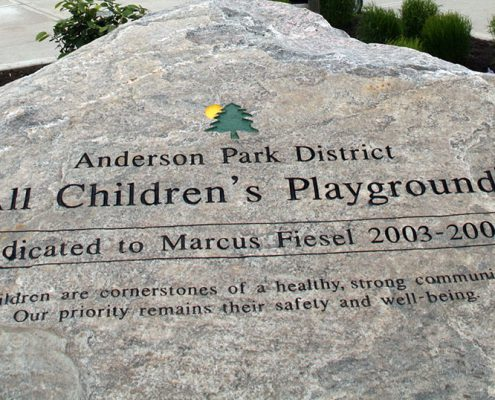 Beech Acres Park all-children's playground dedicated to Marcus Fiesel