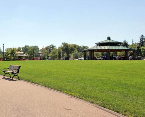 Beech Acres Park amphitheater and shelter