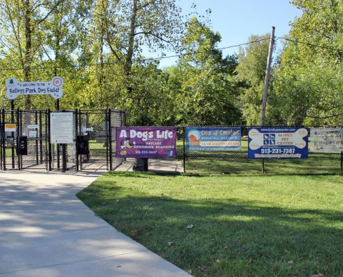 Outdoor banner program sponsors: Kellogg Park Dog Field