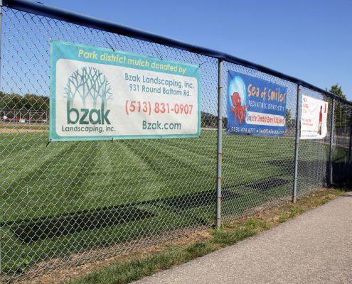Outdoor banner program sponsors: Riverside Park