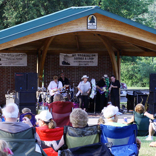 Concerts in the park at the Beech Acres Park amphitheater