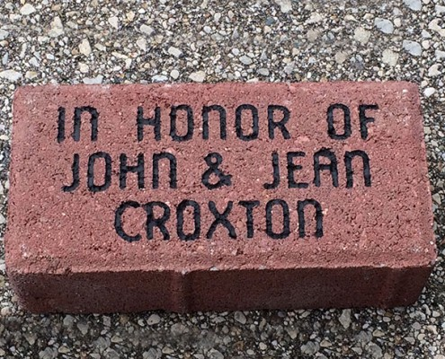 Lasting gifts: engraved brick