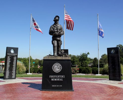 Beech Acres Park firefighter's memorial