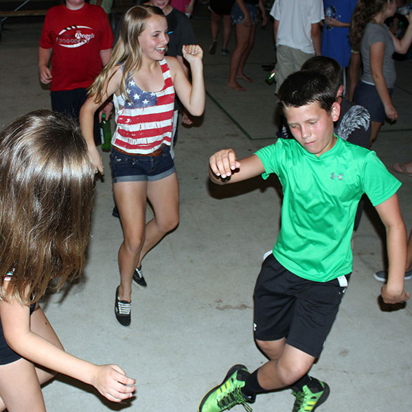 teens dancing at Jr High Park Parties