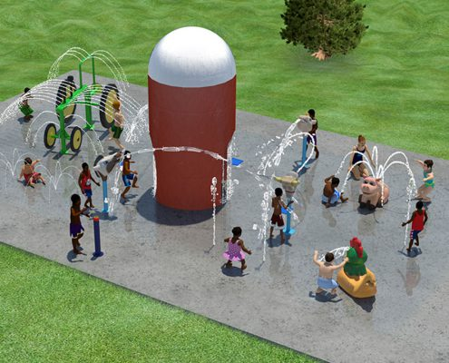 Juilfs Park playground water play area rendering
