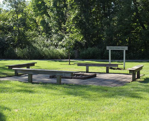 Veterans Park fire pit, permit required for use