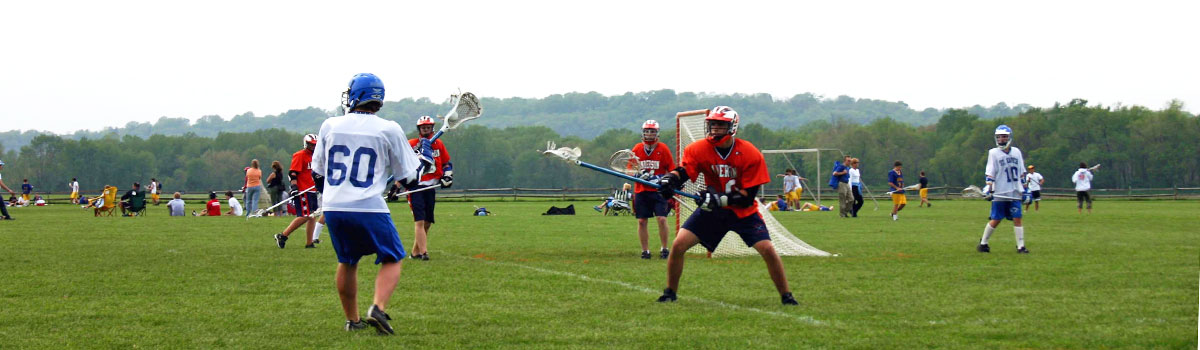 lacrosse players at Clear Creek Park