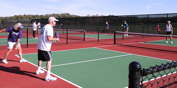 pickleball league at clear creek park