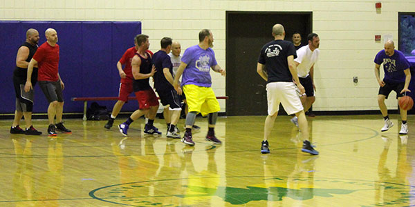 Adult Basketball Group in the Beech Acres Park RecPlex Gym