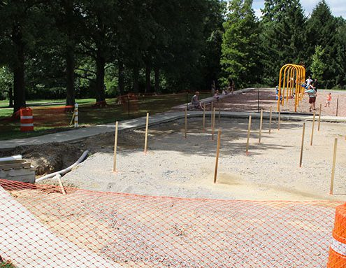 construction of the new water play area at Juilfs Park