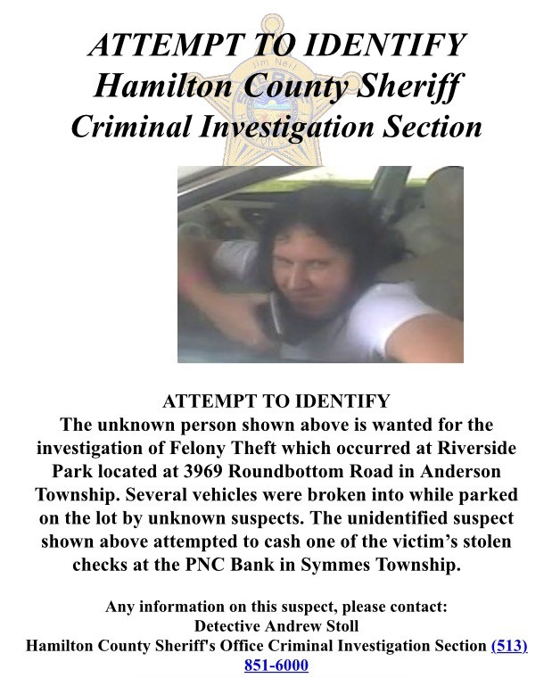 hamilton county sheriff poster of wanted man