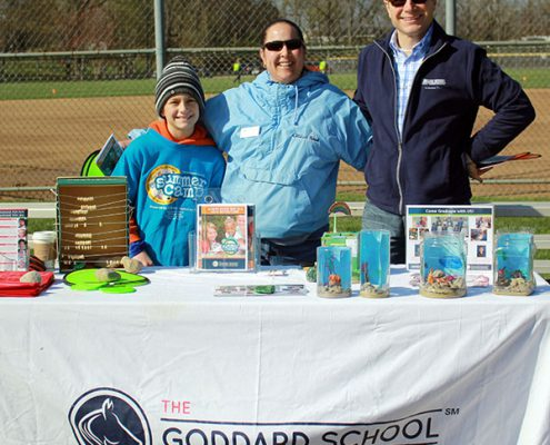 Goddard School Anderson at their booth during the Youth Egg Hunt. This is a benefit of event sponsorship