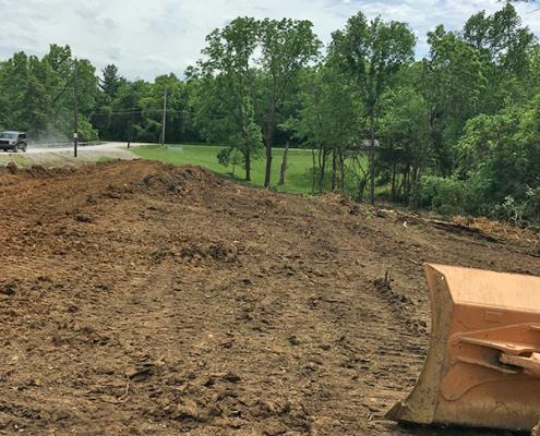johnson hills park driveway construction