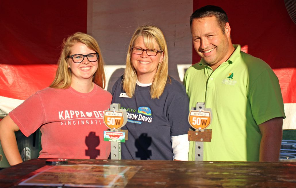 Park district board members serving beer at Greater Anderson Days
