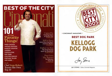 Best of the City Award - Dog Park