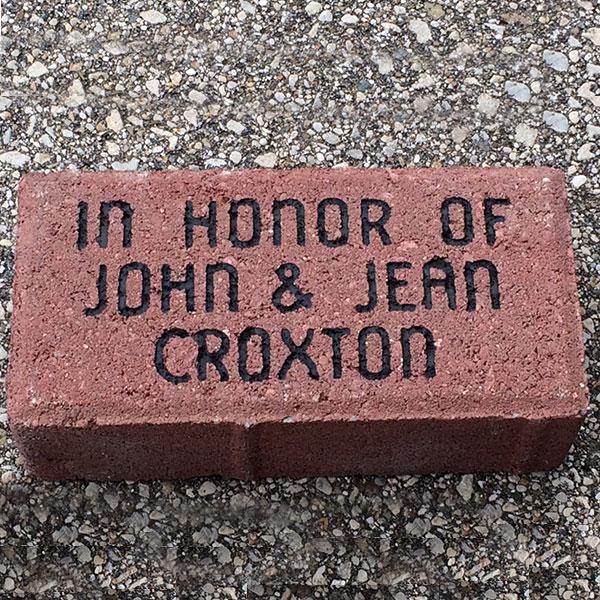 Lasting gifts: engraved brick