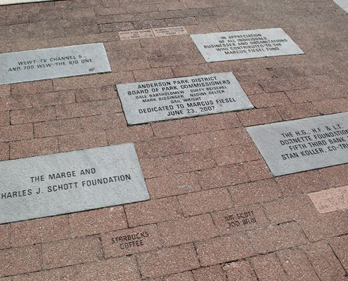 Last gifts: Engraved bricks at Beech Acres Park playground
