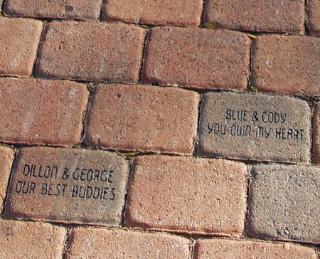 Last gifts: Engraved bricks at Kellogg Park Dog Field