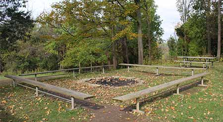 Johnson Hills Park fire pit by permit only
