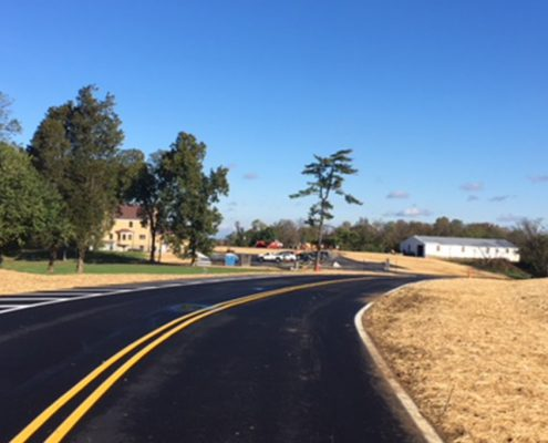 finished driveway at johnson hills park