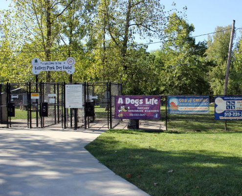 Kellogg Park Dog Field entrance