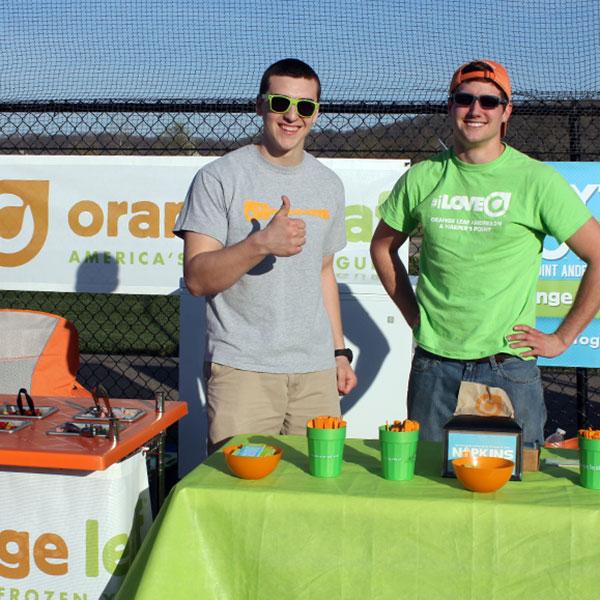 Orange Leaf event sponsor of the egg hunts