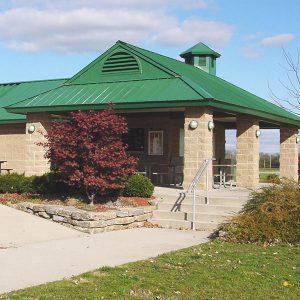 Riverside Park shelter and restrooms