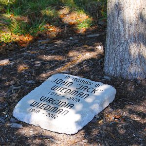 adopt a tree and engraved marker