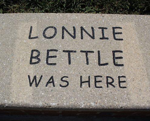 Last gifts: Beech Acres Park amphitheater seat wall engraving