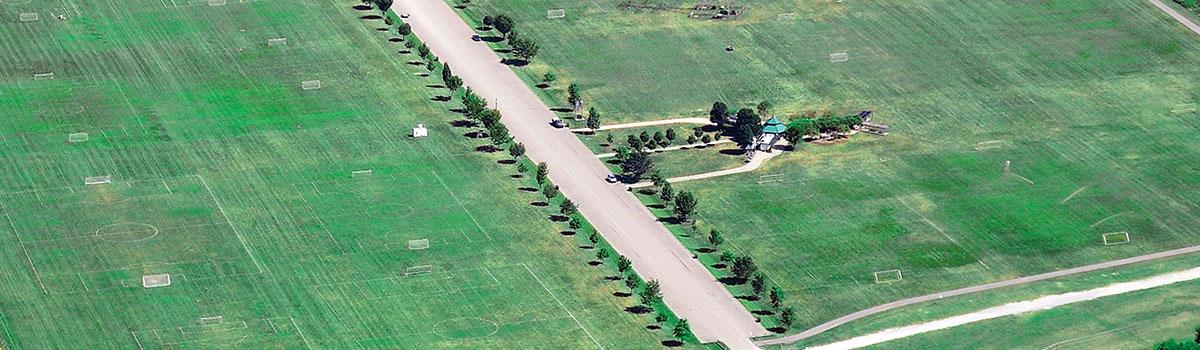 Clear Creek park aerial