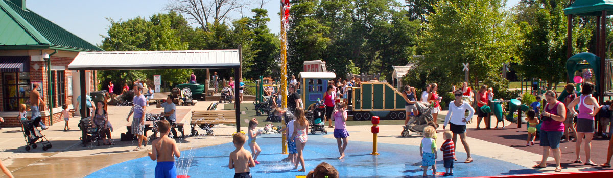 Beech Acres Park playground and water play