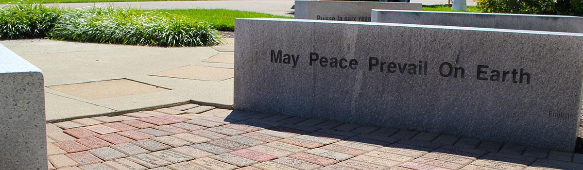 Beech Acres Park GAPP Peace Pole Garden bricks