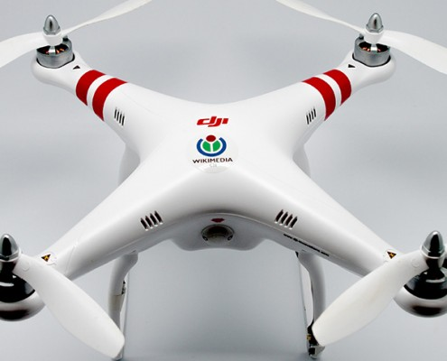 close up picture of a drone