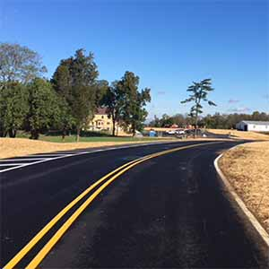 johnson hills park finished drive blacktop