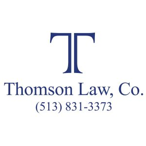Thomson law logo with phone number