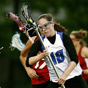 youth girls lacrosse players