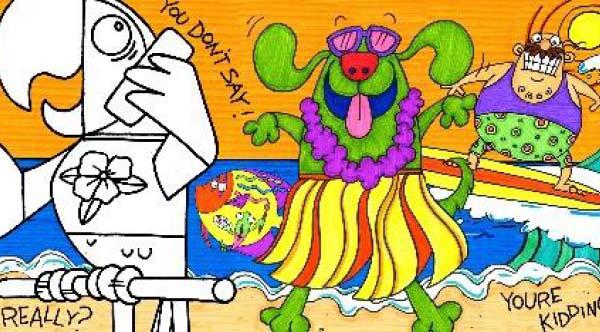 Young Rembrandts® Summer Cartoon Drawing