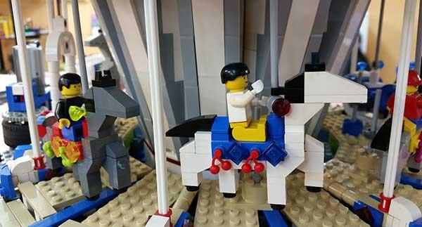 Lego toy carousel